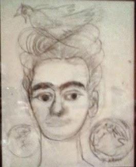 Frida Kahlo, Autoritratto con colomba e Lemniscata, 1954[1]